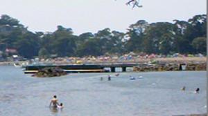 御浜海水浴場 右側の堤防 干潮時